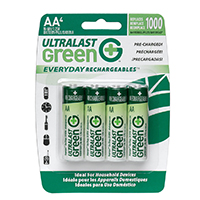 Dantona Industries AA Ultralast Green Pre-Charged NiMH Batteries (4-Pack)