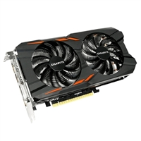 Gigabyte WindForce GeForce GTX 1050 Ti Overclocked Dual-Fan 4GB GDDR5 PCIe Video Card