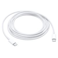 Apple USB 2.0 (Type-C) Male to USB 2.0 (Type-C) Male Charge Cable 6 ft. - White