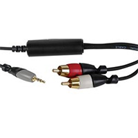 MCM Electronics 3.5mm Male to Dual-RCA Male Ground Loop Isolator