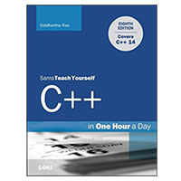 Pearson/Macmillan Books C++ in One Hour a Day, Sams Teach Yourself, 8th Edition