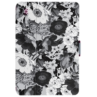 Speck Products StyleFolio Case for iPad Mini 4, 5 - Vintage Bouquet Gray/Boysenberry Purple