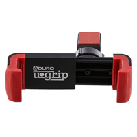 Aduro U-Grip Swivel Grip Clip Air Vent Phone Mount - Black/ Red