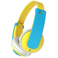 JVC Tinyphones Volume-Limiting Headphones for Kids - Blue/Yellow