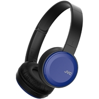 JVC Lightweight Bluetooth Headphones w/ Mic - Blue