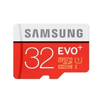 Samsung 32GB EVO+ microSDHC Class 10/ UHS-1 Flash Memory Card with Adapter