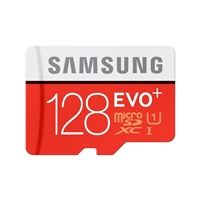 Samsung 128GB EVO+ microSDXC Class 10/ UHS-3 Flash Memory Card with Adapter