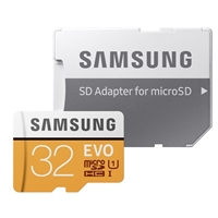 Samsung 32GB Evo microSDHC Class 10/U1 Flash Memory Card with Adapter