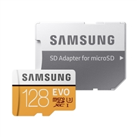 Samsung 128GB EVO microSDXC Class 10/UHS-3 Flash Memory Card with Adapter