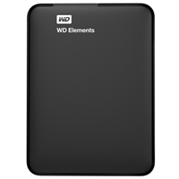 "WD Elements 2TB USB 3.0 2.5"" Portable External Hard Drive - Black"