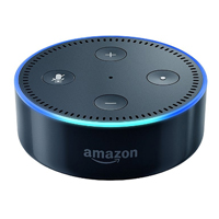 Amazon Echo Dot Smart Speaker, 2nd Generation - Black