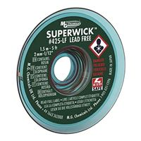 "MG Chemicals Lead Free Super Solder Wick - 5'x0.075"" #3 Green"