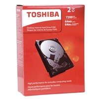 "Toshiba P300 2TB 7200RPM SATA III 6Gb/s 3.5"" Internal Hard Drive"