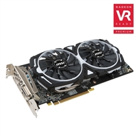 MSI Armor Radeon RX 580 Overclocked Dual-Fan 8GB GDDR5 PCIe Graphics Card