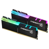 G.Skill Trident Z RGB 16GB (2 x 8GB) DDR4-3200 PC4-25600 CL16 Dual Channel Desktop Memory Kit F4-320016D-16GTZR - Black