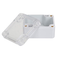 "Velleman Sealed Polycarbonate Box 6.3"" x 3.2"" x 2.2"" - Clear Lid"