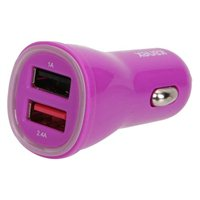 Kanex InBag 3.4 A Dual Port USB Type-A Car Charger - Purple