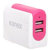 Kanex InBag 3.4 A Dual Port USB Type-A Wall Charger - Pink