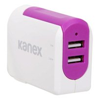 Kanex InBag 3.4 A Dual Port USB Type-A Wall Charger - Purple
