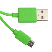 Kanex USB 2.0 (Type-A) Male to Micro-USB (Type-B) Male Cable 4ft. - Green