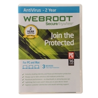 Webroot Software Secure Anywhere Antivirus - 3 User/1 Year