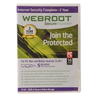Webroot Software Internet Security Complete - 5 User/ 1 Year