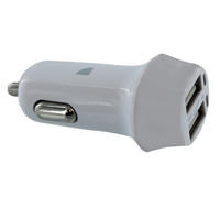 Kanex Dual 3.4A Smart IC USB Type-A Car Charger - White