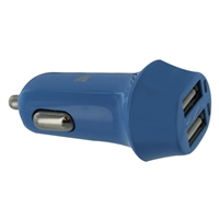 Kanex Dual 3.4A Smart IC USB Type-A Car Charger - Blue