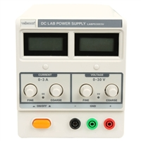 Velleman DC Lab Power Supply 0-30VDC/0-3A MAX with Dual LCD Display