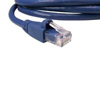 Shaxon CAT 6a Molded Boots Network Cable 14 ft. - Blue