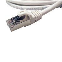 Shaxon CAT 7 Snagless Molded Boots Network Cable 7 ft. - White