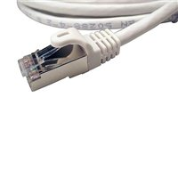 Shaxon CAT 7 Snagless Molded Boots Network Cable 25 ft. - White