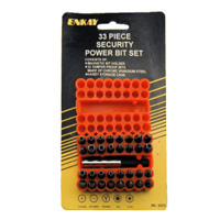 Enkay Products Security Screw Bit Set - 33 Piece