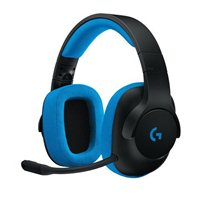 Logitech G233 Wired Gaming Headset - Black/Cyan