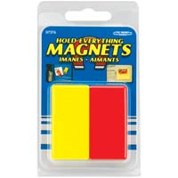 Master Magnetics Hold Everything Magnets Red/Yellow - 2 Pack