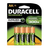 Duracell 4-Pack AA Rechargeable Batteries 2,400mAH