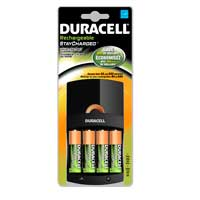 Duracell 8 Hour 4 Position AA/AAA NIMH Battery Charger Includes 4 x AA NIMH 2400mAh Batteries