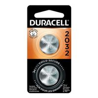 Duracell CR2032 3 Volt Lithium Coin Cell Battery - 2 pack