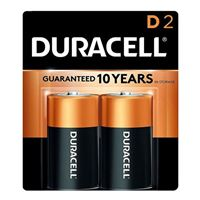 Duracell CopperTop D Alkaline Battery - 2 pack