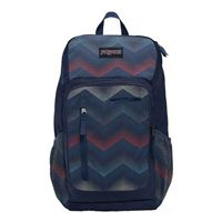 "Jansport Impulse Laptop Backpack Fits Screens up to 17"" - Chevron Navy"