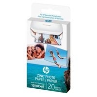"HP ZINK Sticky-Backed Photo Paper, 2x3"", 20 sheets"