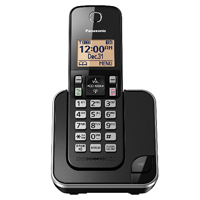 Panasonic Expandable Cordless Phone with Amber Backlit Display