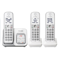 Panasonic Expandable Cordless Phone System with Digital Answering System - White
