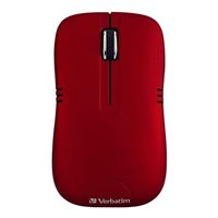 Verbatim Wireless Mouse - Commuter Series - Red
