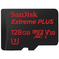 SanDisk 128GB Extreme PLUS microSDXC UHS-I Card with Adapter