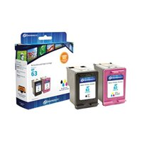 Dataproducts Remanufactured HP 63 Black / Tri-color Combo Pack