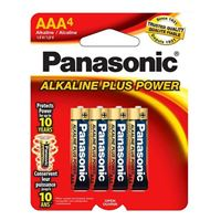 Panasonic Alkaline Plus AAA Battery - 4 pack