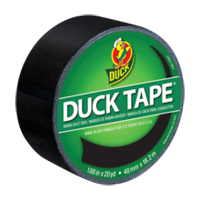 Duck Brand Color Duck Tape 1.88 in. X 60 ft. - Black