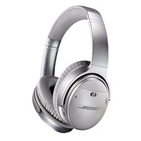 Bose QuietComfort 35 II Wireless Bluetooth Headphones, Noise-Cancelling, with Alexa voice control, enabled with AR - Silver