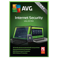 AVG Internet Security 2018 - Unlimited Users, 2 Years